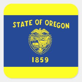 Flag of Oregon Square Sticker