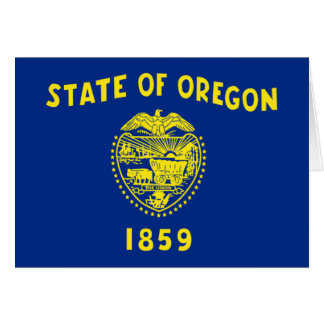 Flag of Oregon Stationery Note Card