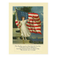 Flag of Our Country Postcard