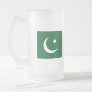 Flag of Pakistan Frosted Glass Beer Mug