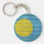 Flag of Palau Basic Round Button Keychain