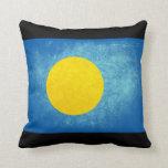 Flag of Palau; Palauan Throw Pillow