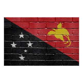 Flag of Papua New Guinea Poster