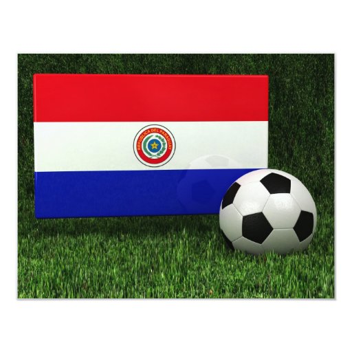 Flag of Paraguay 4.25x5.5 Paper Invitation Card