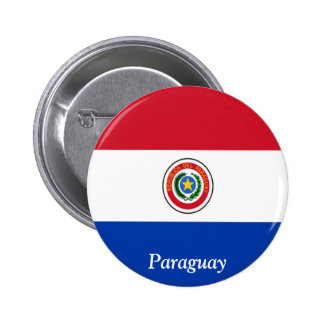 Flag of Paraguay 2 Inch Round Button