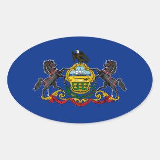 Flag of Pennsylvania Oval Sticker