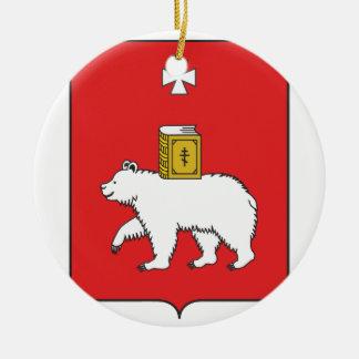 Flag Of Perm Krai Ceramic Ornament
