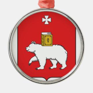 Flag Of Perm Krai Metal Ornament