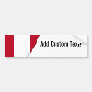 Flag of Peru Bumper Sticker
