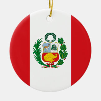 Flag of Peru Ceramic Ornament
