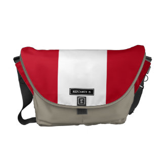 Flag of Peru Courier Bag