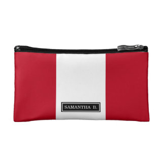 Flag of Peru Makeup Bag