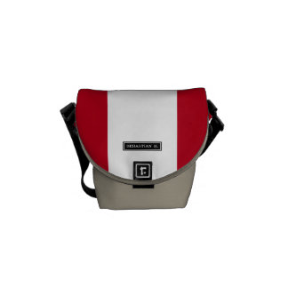 Flag of Peru Messenger Bag