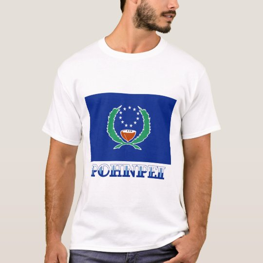 Flag of Pohnpei, with name T-Shirt