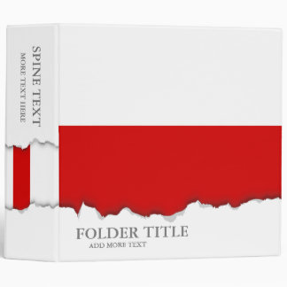 Flag of Poland Binder