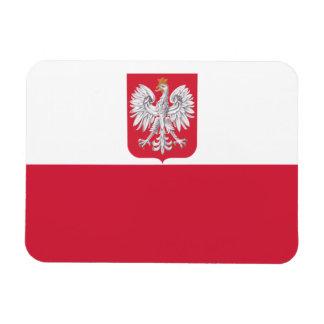 Flag of Poland Coat of Arms Premium Flex Magnet