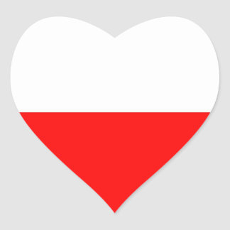 Flag of Poland Heart Sticker
