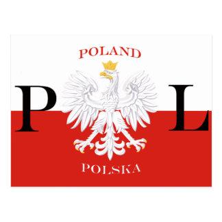 Flag of Poland Polska White Eagle Postcard