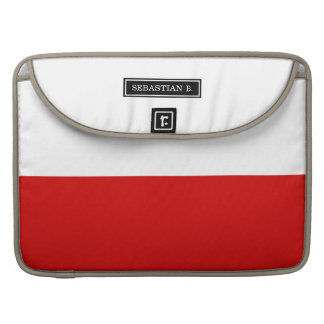 Flag of Poland Sleeve For MacBook Pro