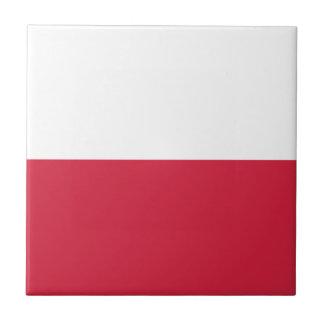 Flag of Poland Tile Coaster