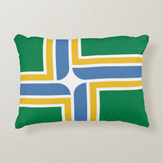 Flag of Portland, Oregon Decorative Pillow