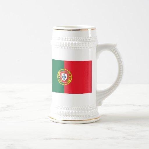 Flag of Portugal 18 Oz Beer Stein