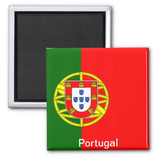 Flag of Portugal 2 Inch Square Magnet