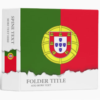 Flag of Portugal 3 Ring Binder