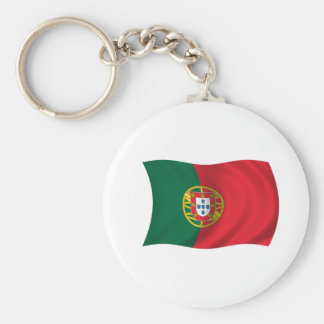 Flag of Portugal Basic Round Button Keychain