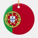Flag of Portugal Christmas Tree Ornaments