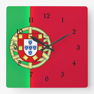 Flag of Portugal coloful custom design Square Wall Clock