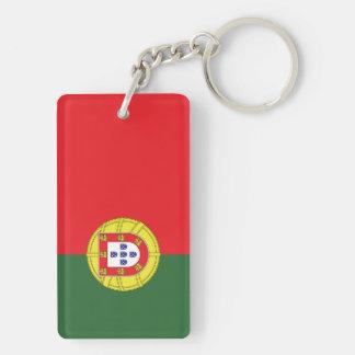 Flag of Portugal Double-Sided Rectangular Acrylic Keychain