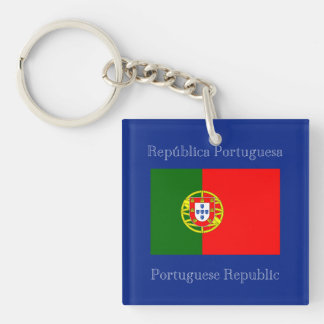 Flag of Portugal Double-Sided Square Acrylic Keychain