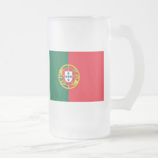 Flag of Portugal Frosted Glass Beer Mug