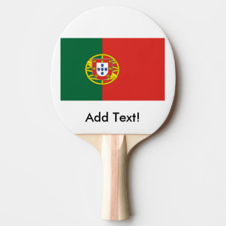 Flag of Portugal Ping Pong Paddle