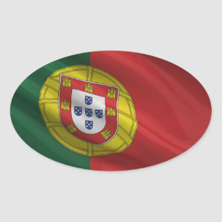 Flag of Portugal Oval Sticker