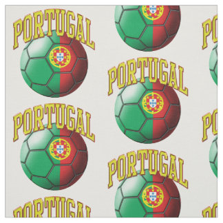 Flag of Portugal Portuguese Soccer Ball Pattern Fabric