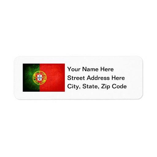 Flag of Portugal Return Address Label