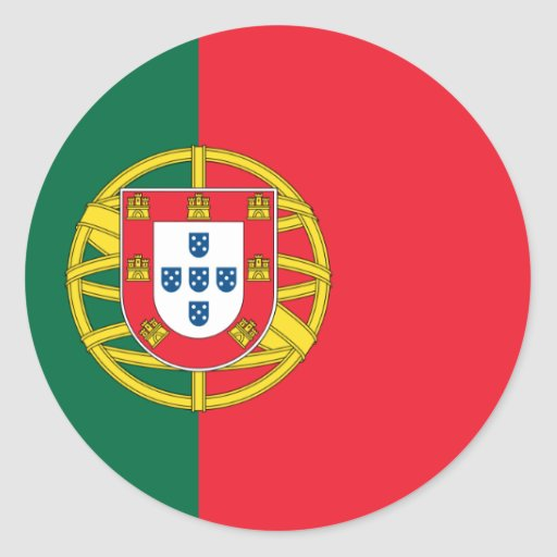 Flag of Portugal Round Sticker
