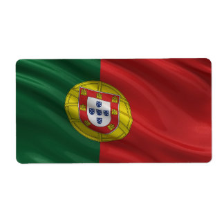 Flag of Portugal Shipping Label