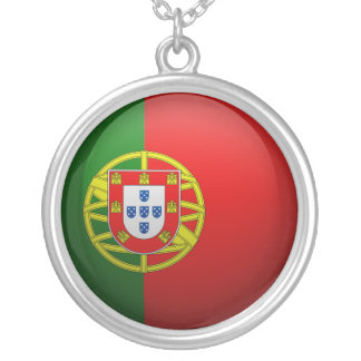 Flag of Portugal Silver Plated Necklace