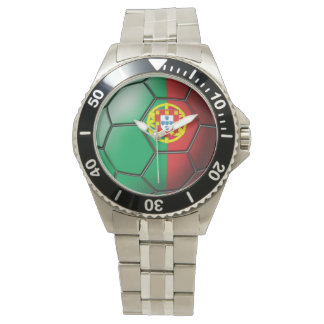 Flag of Portugal Soccer Ball Wristwatch