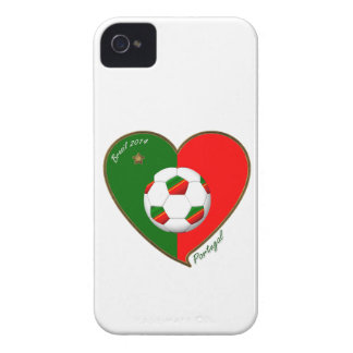 Flag of PORTUGAL SOCCER of national team 2014 iPhone 4 Case