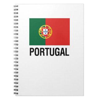 FLAG of PORTUGAL Spiral Notebook