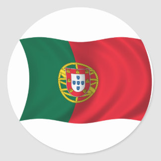 Flag of Portugal Round Sticker