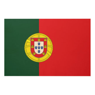 Flag of Portugal Wood Wall Art