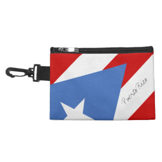 Flag of Puerto Rico Accessory Bag
