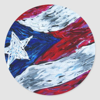 Flag of Puerto Rico - Artwork by Galina - Classic Round Sticker