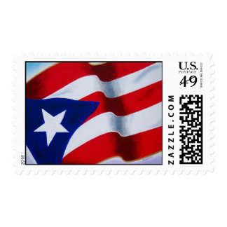Flag of Puerto Rico - Artwork by Galina Postage Stamps