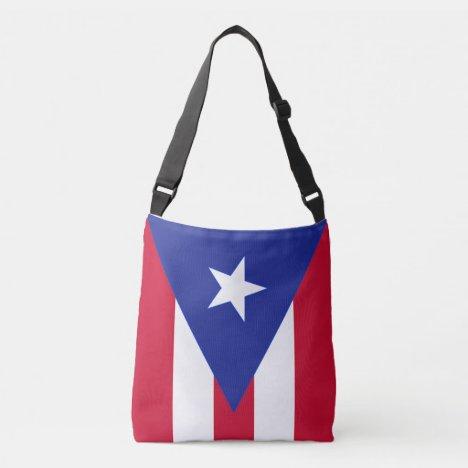 Flag of Puerto Rico - Bandera de Puerto Rico Crossbody Bag